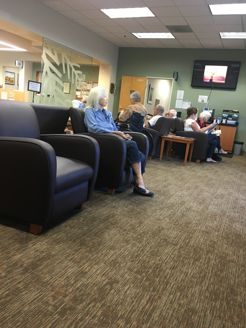 Mom in the waiting room